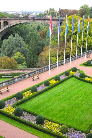 Grounds with Flags, Luxembourg